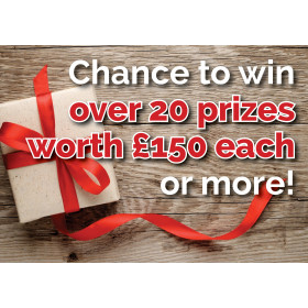 Over 20 different prizes to be won...