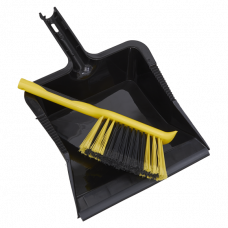 Bulldozer Yard Dustpan & Brush Set