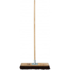 "Tudor Heavier Duty Contractor Platform Broom - 24"" bassine filled"