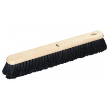 "Hillbrush Industrial Platform Broom - 24"" stiff/soft Bass/Coco mix filled- head only"