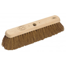 "Hillbrush Industrial Platform Broom - soft Coco filled, 18"" - head only"