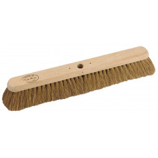 "Hillbrush Industrial Platform Broom - soft Coco filled, 24"" - head only"
