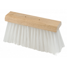 White PVC Scavenger Broom - 13""