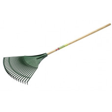 Bulldog Budget Plastic Fan Rake, wooden handle