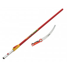 Wolf Pruning Saw and 4m Telescopic Handle Set