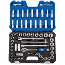 Draper 16456 63 Piece Socket Set  ½SQ Dr MM/AF Combined