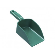 Plastic Seamless Hand Scoop - Green