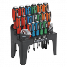 Siegen Hammer-Thru Screwdriver, Hex Key & Bit Set 44pc