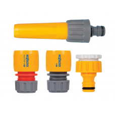 Hozelock Hose Nozzle & Threaded Tap Starter Set