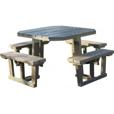 Barbican Recycled Square 8  Seater Picnic Table