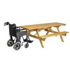 Cotswold 8 Seater Plus Picnic Table with wheelchair access
