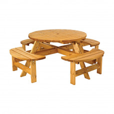 Sherwood 8 Seater Round Picnic Bench