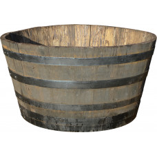 Oak Half-Barrel Tub - large