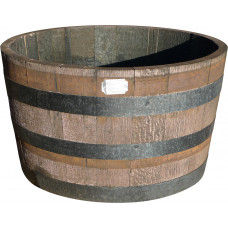 Oak Half-Barrel Tub - small