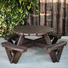 Barbican Recycled 8 Seater Round Picnic Table