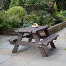 Recycled 6 Seater Picnic Table
