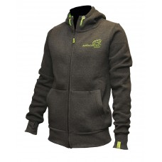 Arbortec Zip Front Hoodie Jacket - Charcoal/Lime