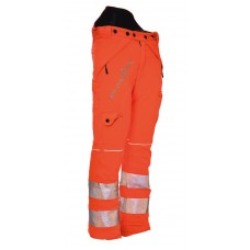 Arbortec, type C, 'Breatheflex' Hi-Vis Orange Chain Saw Trouser