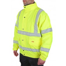 Hi-Vis Fleece Lined Bomber Jacket, yellow