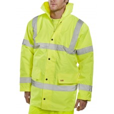 Hi-Vis Traffic Safety Jacket, yellow
