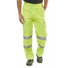 Hi-Vis Polycotton Work Trousers, yellow