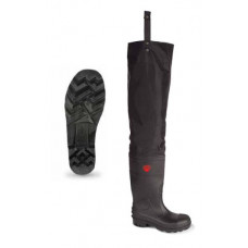 Avon Black Midsole PVC Safety Thigh Waders