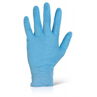 Premium Blue Nitrile Disposable Gloves, box of 100