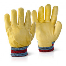 Fleecy Lined Hide Gloves