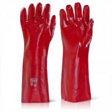 PVC Gauntlet Gloves, 18""