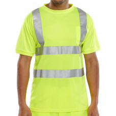 Hi-Vis Tee Shirt, yellow coloured