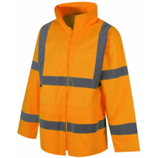Hi-Vis Waterproof Lightweight Orange Rain Jacket