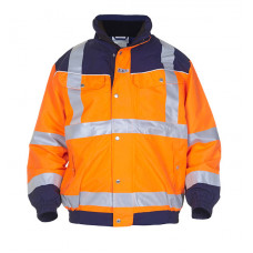 Hydrowear 'Furth' SNS Hi-Vis Contrast Waterproof & Breathable Pilot Jacket - Orange