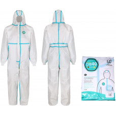 Premium Disposable Coverall with Taped Seams Coverall - White  Type 4B,5B,6B