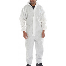 Semi-disposable Protective Coverall - White