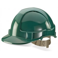 Vented Safety Helmet - Green