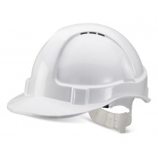 Economy Vented Safety Helmet - White