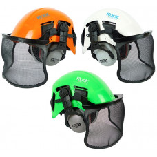 Rock Dynamo EN12492 Climbing Helmet with muffs and visor
