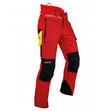 Pfanner Ventilation Type A Chainsaw Trousers - Red
