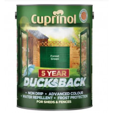 Cuprinol Ducksback 5yr Waterproof for Sheds & Fences, Forest Green, 5 L