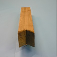 "Tanalised Timber Post c/w V-Cut Top, 4"" x 4"" x 3' 6"""