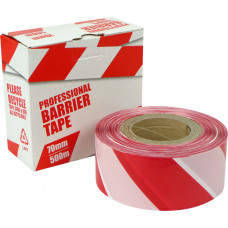 Zebra Hazard/Barrier Tape - non adhesive 70mm x 500m