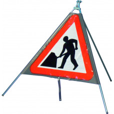 Triangular Man at Work Quazar Sign