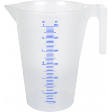 Transparent polypropylene Jug, 3000ml
