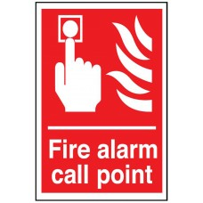 Fire Alarm Call Point Sign 100 x 150