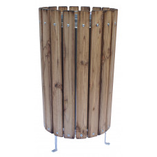 PARK Litter Bin - wooden open topped