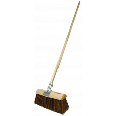 Yard Broom - Sherbro/Poly mix filled - with handle