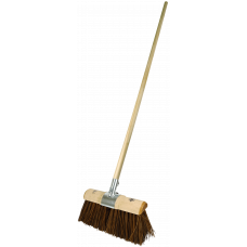 Yard Broom - Bass/Poly mix filled - comes with Handle