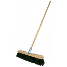 "Platform Broom - 18"" medium Gumati filled - with handle"