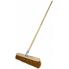 Platform Broom + handle - soft Coco filled, 18""