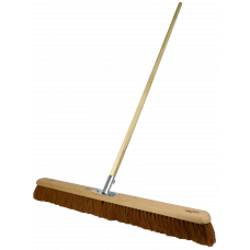 "Platform Broom - soft Coco filled, 36"" - with handle"